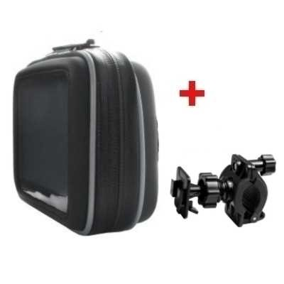 Motorcykel väska m. Hållare f. GPS  10,9 cm (4,3Inch )